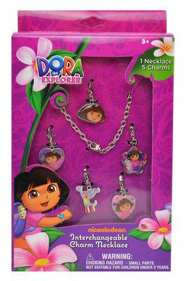 Dora Explorer ketting met 5 hangertjes