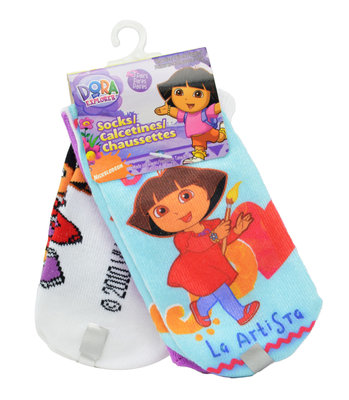 Dora Explorer sneaker sokken set van 3 paar