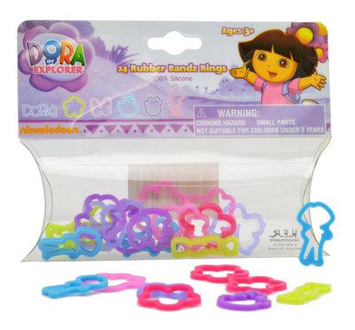 Dora Explorer figuur ring elastiekjes 24 stuks