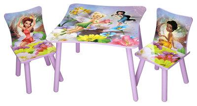 Disney Tinkerbell tafel met 2 stoelen