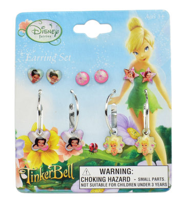 Disney Tinkerbell 5 delig creole en oorknopjes set
