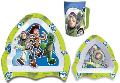 Disney Toy Story 3-delig kunststof dinnerset