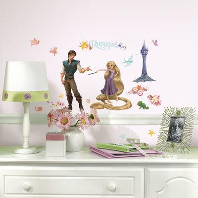 Rapunzel muurstickers 46 delig wand decoratie set