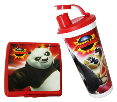 Kung Fu Panda broodtrommel en drinkbeker Tupperware