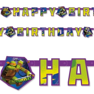 Teenage Mutant Ninja Turtles HAPPY BIRTHDAY slinger