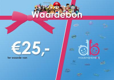 Maakmijnkindblij Waardebon - €25,00