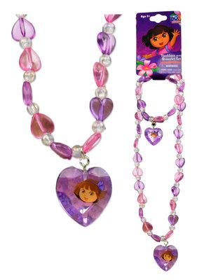 Dora Explorer ketting met armbandset diamonds