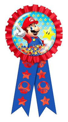 Super Mario verjaardag button