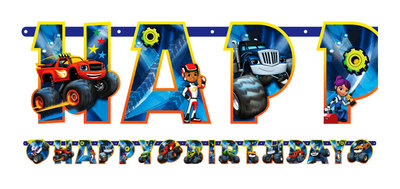 Blaze en de Monsterwielen HAPPY BIRTHDAY slinger