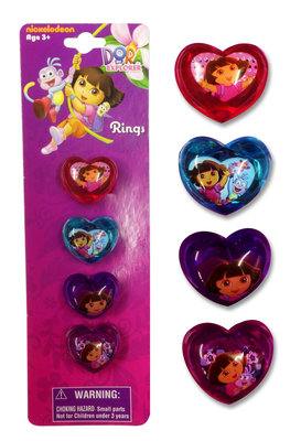 Dora Explorer 4 delig ring set