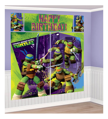Teenage Mutant Ninja Turtles XXL verjaardagsbanner