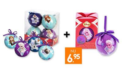 Disney Frozen kerstballen set van 5 stuks combideal!