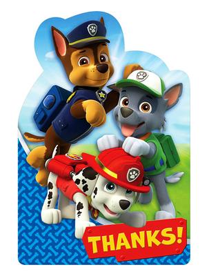 Paw Patrol bedankkaartjes met envelop
