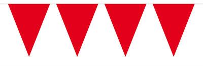 Vlaggenlijn unikleur rood