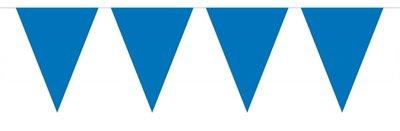 Vlaggenlijn unikleur blauw