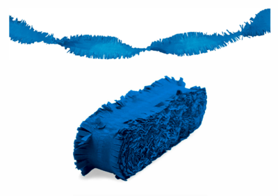 Crepe slinger unikleur blauw 24 meter