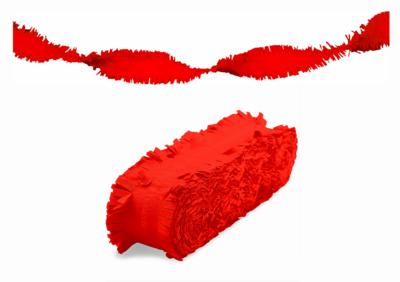 Crepe slinger unikleur rood 24 meter