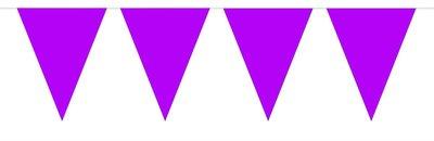 Vlaggenlijn unikleur paars