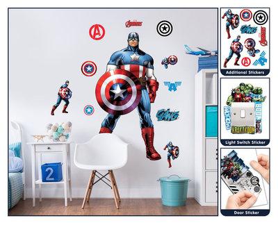 The Avengers XL wanddecoratie Captain America muursticker set
