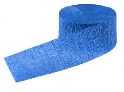Crepe slinger smal unikleur blauw 24 meter