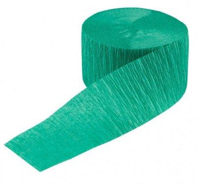 Crepe slinger smal unikleur groen 24 meter