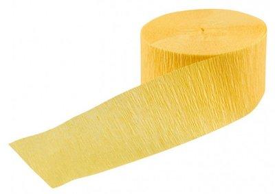 Crepe slinger smal unikleur geel 24 meter