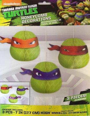Teenage Mutant Ninja Turtles honeycomb 3 delig set