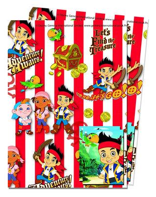 Disney Jake en de Nooitgedachtland piraten cadeaupapier met kaartjes