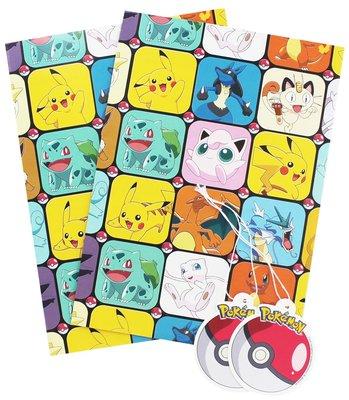 Pokemon cadeaupapier met kaartjes