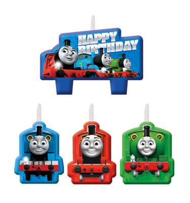 Thomas de Trein verjaardag taart kaarsjes