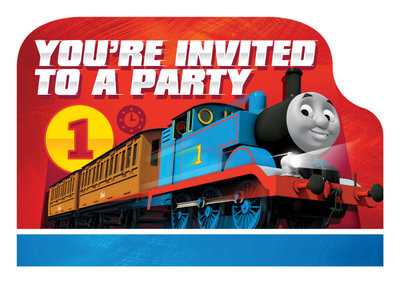 Thomas de Trein uitnodigingen Friends