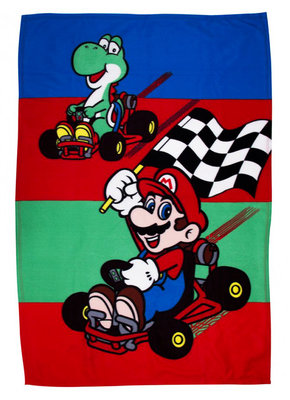 Super Mario Kart fleece deken Champs