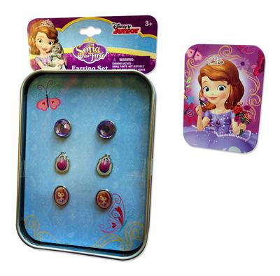 Sofia het Prinsesje geschenkblik met oorbellen
