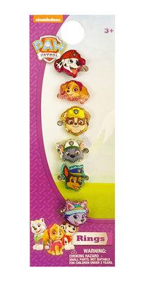 Paw Patrol ring set 6-delig
