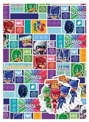 PJ Masks cadeaupapier met kaartjes
