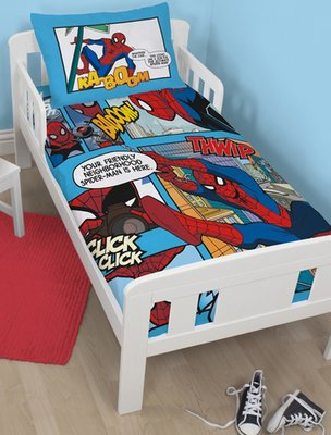 Spiderman junior dekbedovertrek 120x150cm comic