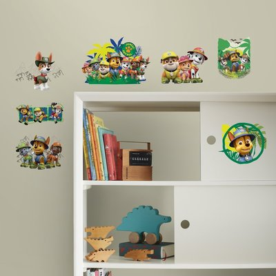 Paw Patrol 15 delig wanddecoratie muurstickers set Jungle