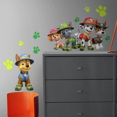 Paw Patrol wanddecoratie muurstickers set Jungle