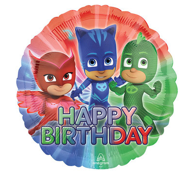 PJ Masks folie ballon Happy Birthday