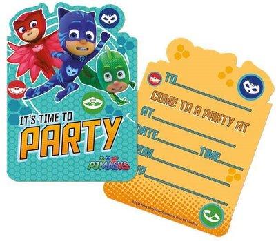 PJ Masks uitnodigingen met envelop
