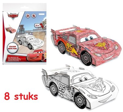 Disney Cars Mc Queen 3D creatief kleur set Verjaardag TIP!