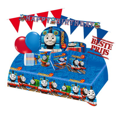 Thomas de Trein feestpakket Deluxe - pakket voor 8 personen