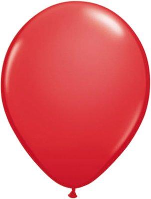 Ballonnen 30 centimeter unikleur rood