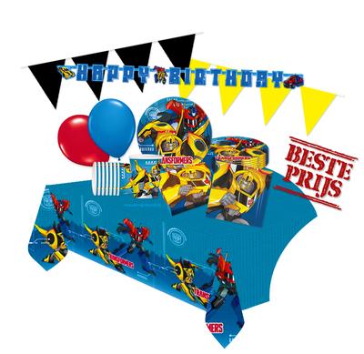 Transformers feestpakket Deluxe - pakket voor 8 personen