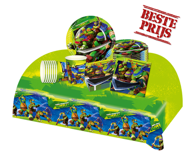 Ninja Turtles feestpakket - voordeelpakket 8 personen