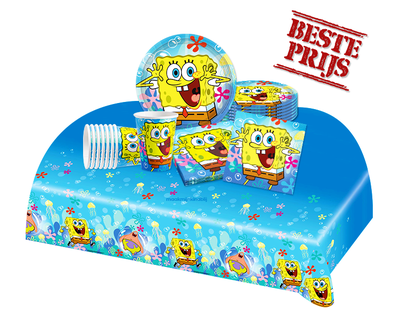 Spongebob feestpakket - voordeelpakket 8 personen