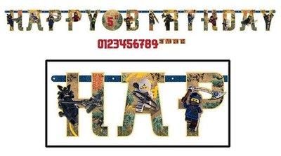 Ninjago slinger Happy Birthday 320cm