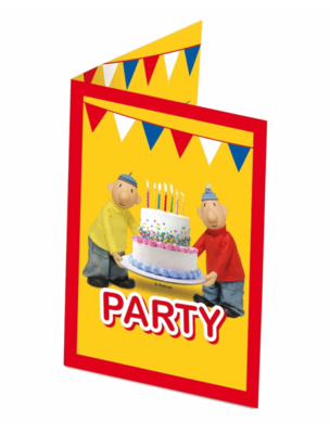 Buurman en Buurman uitnodigingen kinderfeest