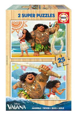 Disney Vaiana puzzelbox 2x 25 stukjes