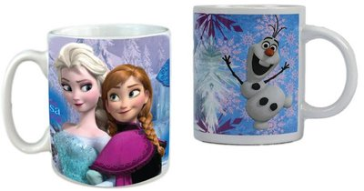 Disney Frozen mok met Anna, Elsa en Olaf